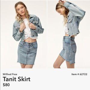 NWT aritzia wilfred denim skirt
